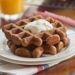 Whole Wheat Gingerbread Waffles