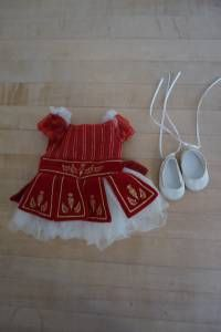 American Girl Doll Retired Ruby Ballet Dress and Shoes, Isabelle - Today