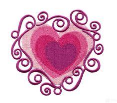 Ornate Heart Embroidery Design