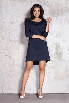 cd893c776d9 Dark Blue Enthralling Corporate Mullet Dress Robe