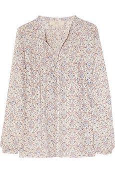 Vanessa Bruno Athé, pixel-print cotton blouse