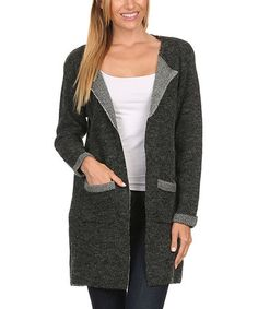 Look what I found on #zulily! Charcoal Angora-Blend Cardigan #zulilyfinds