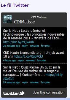 DOC, TIC & co... - Insérer un fil Twitter sur le CMS E sidoc