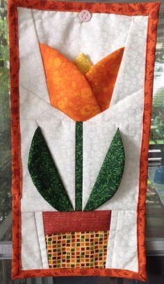 Patchwok  flor elaborado por Guela Mainieri