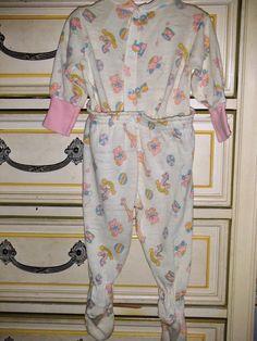 Remember snap waist footie pajamas?