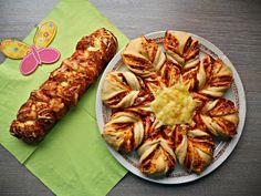 ♥ Laura's liebliche Leckereien ♥: ♥ Herzhafte Hefe-Calzone-Blume & Pizza-Hefezopf ♥