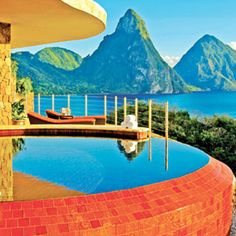 Jade Mountain, St Lucia. | The 21 Most Awesome Hotel Views On Earth