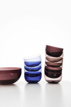 Timo Sarpaneva glass bowls by Iittala at Studio Schalling