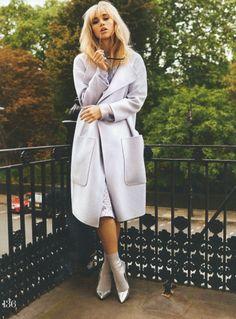 Suki Waterhouse in Burberry coat for ELLE UK Jan '14