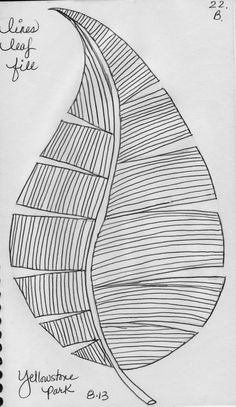 Several leaf designs on this post -- good for sketching or doodling