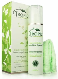 Tropic Pure Plant Skin Care Smoothing Cleanser & Organic Bamboo Face Cloth - Carrie-Ann & Ella love it Eco Beauty, Natural Beauty, Vegan Society, 2015 Hairstyles, Cleanser, Hair Care, Fragrance, Alcohol, Tropical