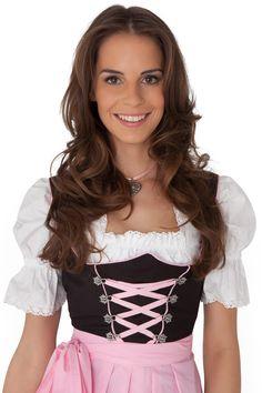 Amazon.com: Dirndl Womens 3-Piece Black Dirndl with Pink Apron: Clothing