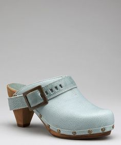 Take a look at this Dusty Blue Wood Parmona Cone Clog - Women by Sanita on #zulily today!