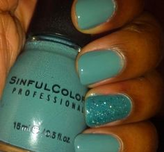 Sinful Colors Athens with Nail Junkie accent nalil