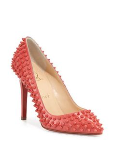 CHRISTIAN LOUBOUTIN Pigalle Patent Spikes Pump