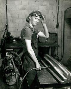 Woman Grinding Machine Part (1943)