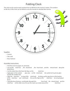 Make learning to tell time fun with this free printable clock! #freeworksheets #tellingtime #tellingtimepractice #printableclocks