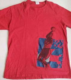 a107ffdfa80 Vintage Nike Michael Jordan T Shirt red Men s size L made in USA single  stitch