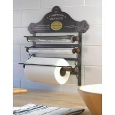 Wall Mounted Kitchen Roll Holder