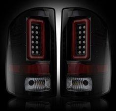 (14-16 GMC Sierra 1500 / 15-16 2500/3500 Single Rear Wheel) RECON Smoked LED Taillights