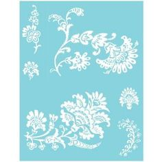 Americana Elegance Self-Adhesive Stencil-AGS204-A - The Home Depot