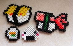 Perler Bead - Sushi Magnets by seethecee