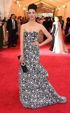 Jessica Paré from 2014 Met Gala Arrivals | E! Online