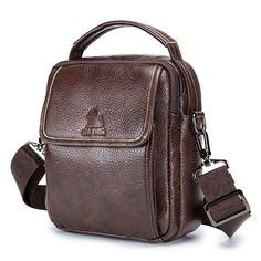 d19328f37f61 Vintage Genuine Leather Shoulder Crossbody Bag For Men is hot-sale