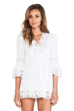 9//16//14 Raga Long Sleeve Boho Dress in White | REVOLVE