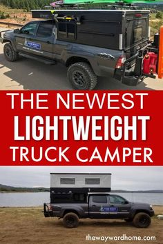 The newest lightweight truck camper by Four Wheel Campers is just 500 pounds. An innovative blend between a pop-up truck camper and a rooftop tent. Great for off-grid living and boondocking. Truck Bed Camping, Tent Camping, Pickup Camping, Camping Life, Family Camping, Pop Up Truck Campers, Rv Campers, Best Truck Camper, Laura Lee