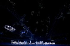Rollerskaters perform Olympic Gods during the Opening Ceremony of the Sochi 2014 Winter Olympics at Fisht Olympic Stadium on February 7, 201...