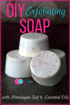 This DIY Exfoliating Soap is sure to please!! Soaps at the store contain undesirable ingredients. Exfoliate your skin with non-toxic, all-natural ingredients and DIY some quick gifts with this easy recipe. #natural #soap #soapmaking #diy #homemade #tutorial #essentialoils