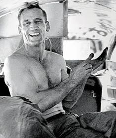 """Neal Cassady. Muse for Jack Kerouac's character Dean Moriarty in """"on The Road""""."""