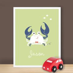 Custom Baby Print  Under The Sea  Crab  8.5 x 11 by SimpleShapes, $22.00
