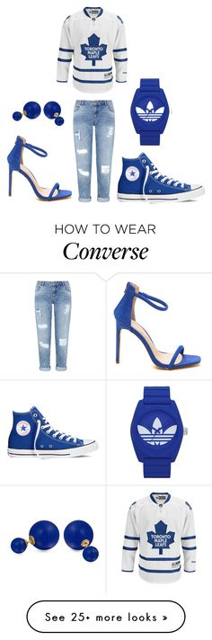 """""""Toronto Maple Leafs"""" by hisabella on Polyvore featuring Reebok, adidas, Converse, Miss Selfridge and Bling Jewelry"""