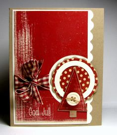 Christmas card by Biggan - Cards and Paper Crafts at Splitcoaststampers Homemade Christmas Cards, Homemade Cards, Handmade Christmas, Red Christmas, Scrapbooking, Scrapbook Cards, Xmas Cards, Holiday Cards, Envelopes