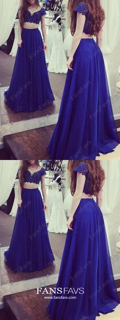 Prom Dress Princess, Chiffon V-neck A-line Floor-length Lace Prom Dresses Shop ball gown prom dresses and gowns and become a princess on prom night. prom ball gowns in every size, from juniors to plus size. Pageant Dresses For Teens, Sparkly Prom Dresses, Royal Blue Prom Dresses, Elegant Bridesmaid Dresses, Simple Prom Dress, Formal Dresses For Teens, Prom Dresses 2018, Formal Evening Dresses, Prom Gowns