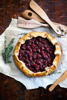 Raspberry Galette with Lemon Thyme Crust #food #recipe