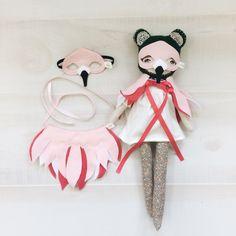 DOLL Flamingo Mask + Wing Cape SET