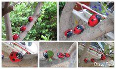 Ladybugs family [stones]