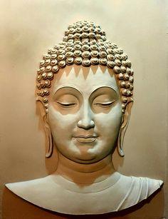 Discover thousands of images about Mural art Buddha Wall Art, Buddha Painting, Buddha Drawing, Buddha Face, Buddha Zen, Clay Wall Art, Mural Wall Art, Buddha Kunst, Buddha Sculpture