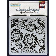 Donna Downey pochoirs en plastique Signature 21,5 cm x 21,5 cm, motif floral…