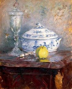 Berthe Morisot, Tureen and Apple, 1877