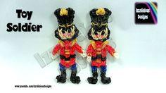 Rainbow Loom (Christmas/Xmas) Nutcracker Toy Soldier Action Figure/Charm tutorial by Izzalicious Designs.