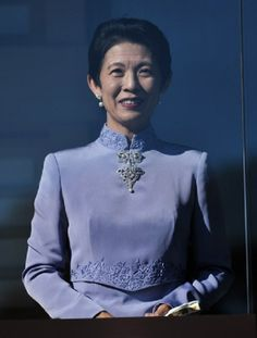 Japan's Princess Takamado appears during a new year greeting 2014 at the East Plaza, Imperial Palace in Tokyo, Japan