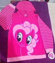Sudadera Pinkie Pie, talla chica 4-5 años, con bolsas ocultas a los lados, es ligera, $250MX