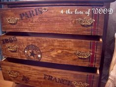 4 the love of wood: OLD WORLD TRAVEL - vintage travel themed chest