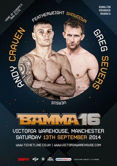 Andy Craven vs Greg Severs #BAMMA16 #MMA #MixedMartialArts #UFC #BAMMA