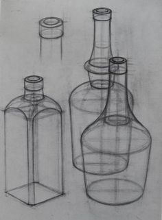 Fabulous Tips Can Change Your Life: Vases Art Dollar Stores white vases diy. dessin Fabulous Tips Can Change Your Life: Vases Art Dollar Stores white vases diy. Vasos Vintage, Vintage Vases, Antique Vases, Basic Sketching, Basic Drawing, Pencil Art Drawings, Art Drawings Sketches, Geometric Shapes Drawing, Bottle Drawing
