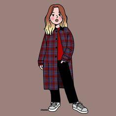 이미지: 텍스트 Cartoon Drawings, Cartoon Art, Cute Drawings, Fashion Sketches, Art Sketches, Character Drawing, Character Design, Easy Anime Eyes, Chinese Picture